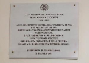 Mariannina Ciccone Lapide Palazzo Matteucci